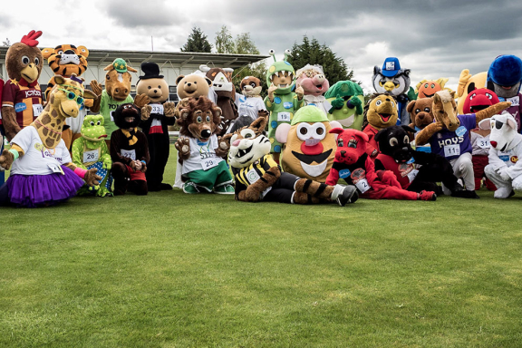 Group photo of all the mascots who took part last year