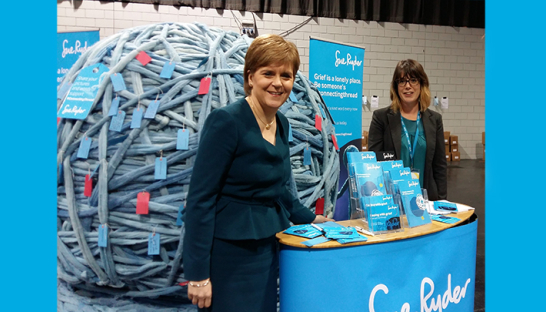 Nicola Sturgeon at a Sue Ryder event