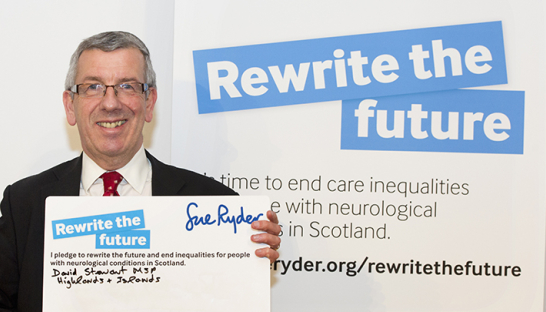 An MSP with our Rewrite the Future report