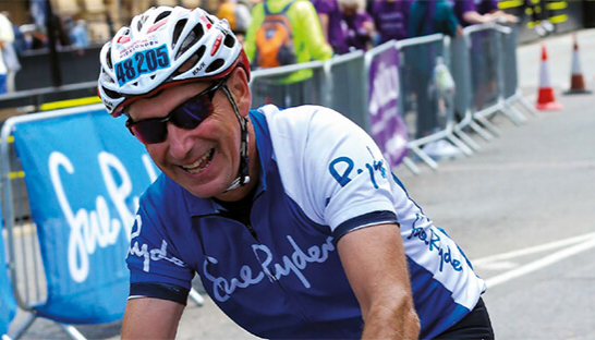 Image of supporter Gary Heyden cycling for Sue Ryder