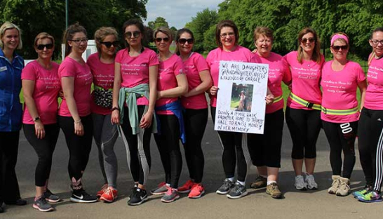 Carole's female relatives and family friends raising money