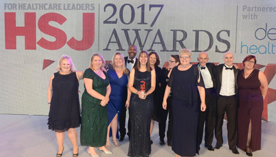 The Dementia Suffolk team at the HSJ Awards