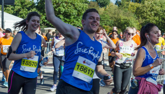 Henry waving during the Royal Parks Half 2016