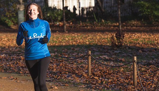 Sue Ryder supporter Holly running in the autumn