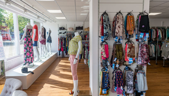 Inside a Sue Ryder shop