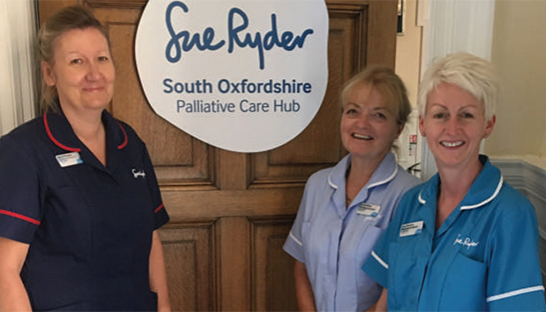 Nurses at the South Oxfordshire Palliative Care Hub