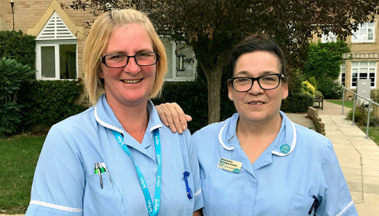 Nursing Assistants Wilma and Shelley