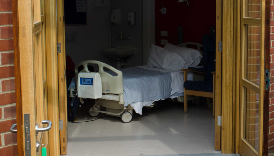 Image of a Sue Ryder hospice bed