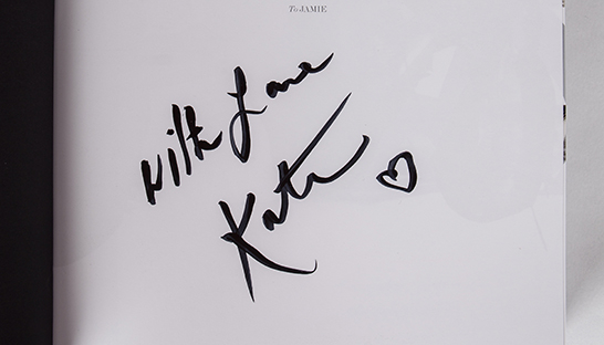 Kate Moss's signature