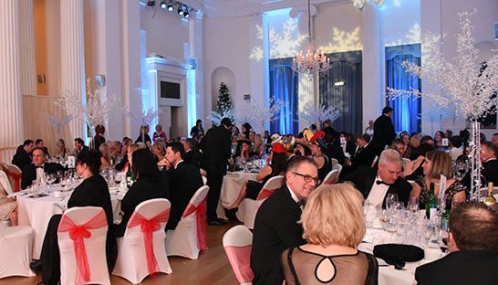 The packed ballroom at last year's Leckhampton Winter Ball