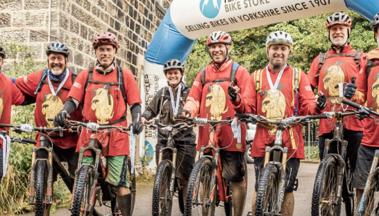 A team of cyclists ready to take on the Bronte Mountain Bike Challenge