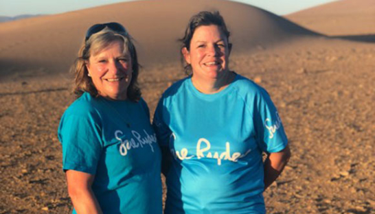 Image of Jillian and Victoria who took part in the Saharan Mini Adventure for Sue Ryder