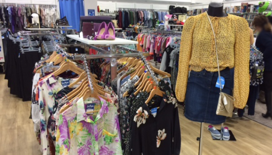 rails of clothing in the Garforth store
