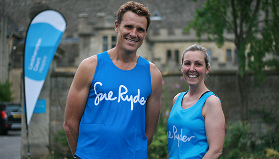 Leckhampton supporter Julia meets Olympian James Cracknell 546