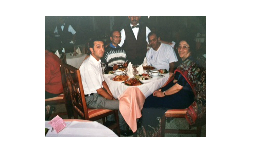 The Makwana family on holiday in Tunisia in 2004