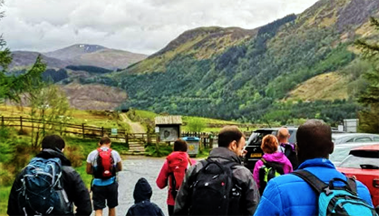 The group set off to conquer the Three Peaks Challenge