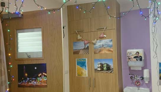 Photos of Blackpool on hospice bedroom walls