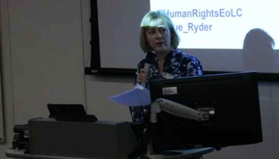 Heidi Travis opening human rights conference 2019