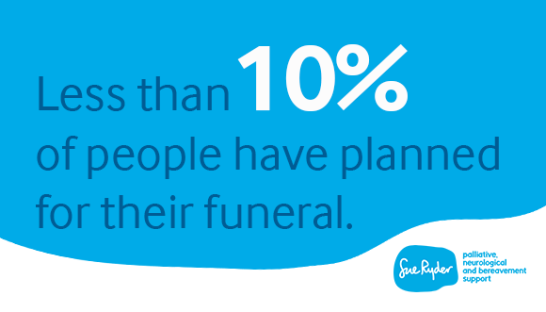 Less than 10% of people have planned for their funeral infographic