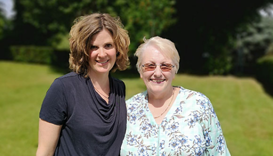 Manorlands volunteer hypnotherapist Amy Brown and patient Jacki Scholefield