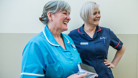 Dee View Nurses Ann Whyte and Louise Torrance