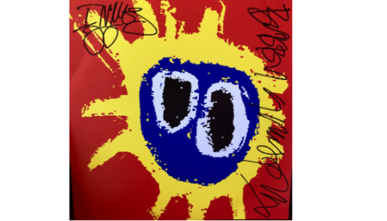 Primal Scream's 'Screamadelica' album signed by Bobby Gillespie