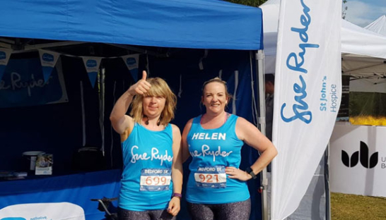 Helen with a running partner at Bedfordshire Running festival