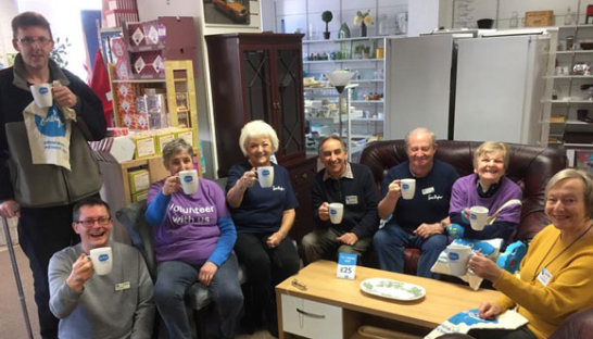 Volunteers at our Bury  St. Edmunds charity shop