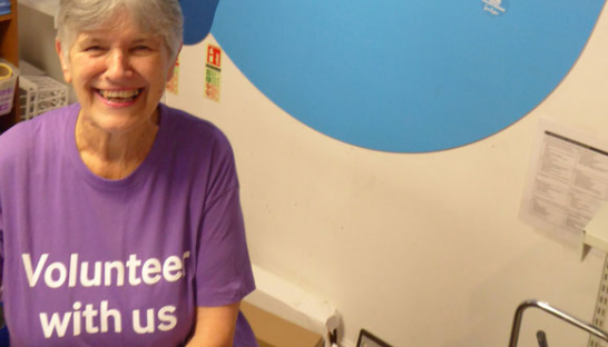 Edith, one of our shop volunteers.