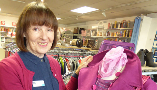 Judy, one of out charity shop volunteers.