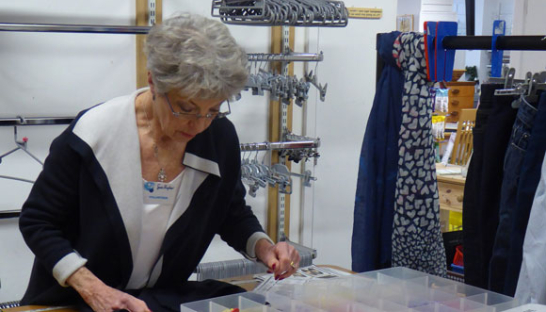 Christine, one of our charity shop volunteers.