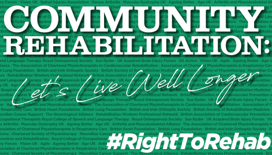 Community Rehabilitation: Let's Live Well Longer report preview