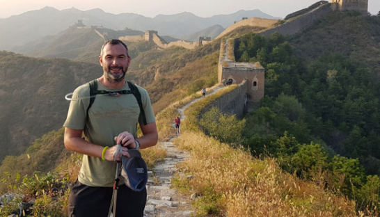 Lee Jackson at the Great Wall of China