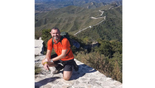 Lee Jackson on his Great Wall of China trek.