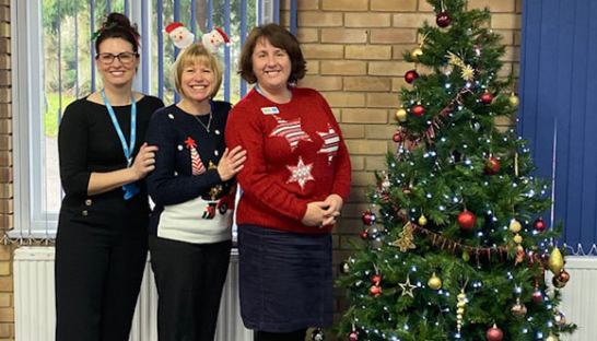 Sue Ryder St John's Family Support Team at Xmas.