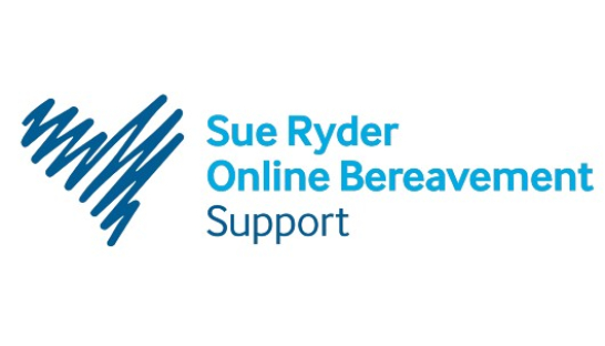 Image of Sue Ryder Online Bereavement Support logo including a blue heart