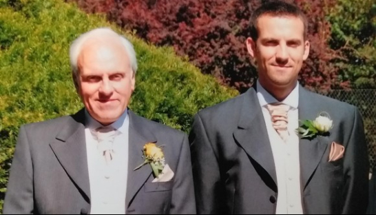 Richard at his wedding with his father David, in 2007.