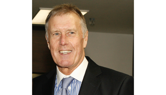 Sir Geoff Hurst, the first celebrity ambassador for Sue Ryder Leckhampton Court Hospice
