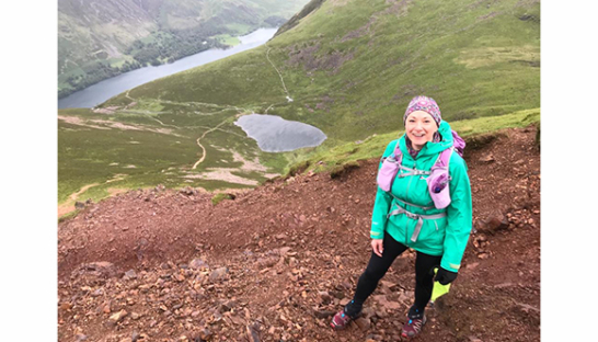 Catherine from Stirk Lambert and Co walking in the mountains