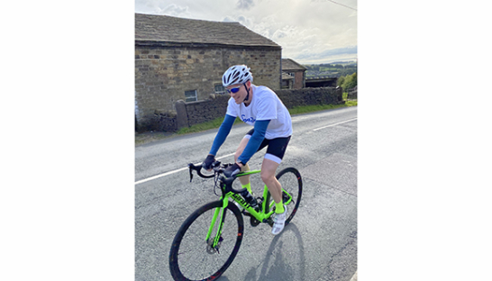 Jonathan Cycling for Sue Ryder Manorlands