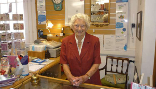 Sue Ryder volunteer Renee Rowe, in the Sue Ryder Cavendish shop
