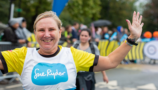 A runner in Sue Ryder gear, during the Royal Parks Half 2019 event