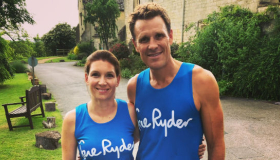 Catherine Hickey with double Olympic gold medallist James Cracknell