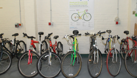 Bikes at one of our workshops