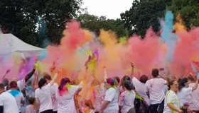 Participants at this year's Reading Colour Rush