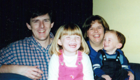 Jess when she was younger, with her family