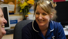 Image of a Sue Ryder nurse at St John's hospice