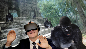 Joe FitzPatrick MSP exploring the virtual jungle pursued by gorillas