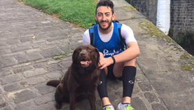 A photo of Ryan Judson, London Marathon runner with his dog