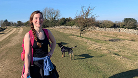 Leckhampton supporter Kate Carr in the gorgeous Cotswolds countryside